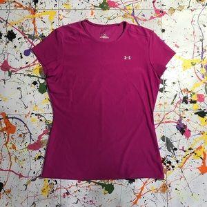 Under Armour (Heat Gear) T-shirt (Sz Small) Pink